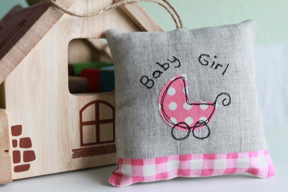 Baby Girl Lavender Scented Mini Hanging Pillow