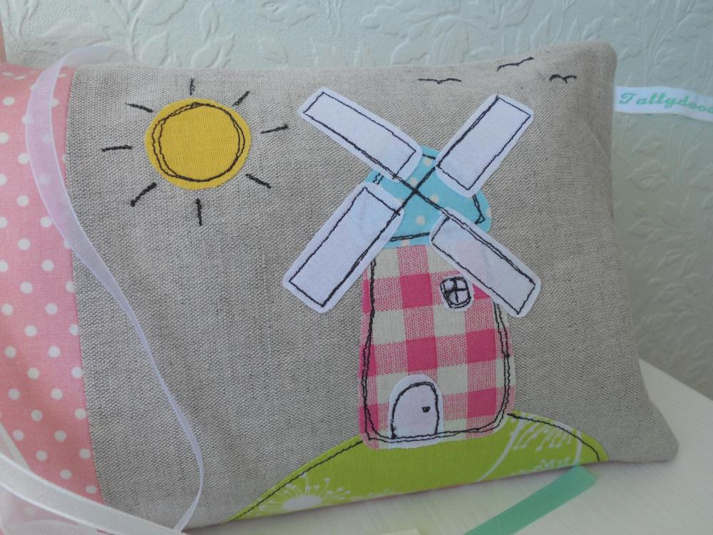 Whimsical Windmill Lavender Scented Sleep Pillow
